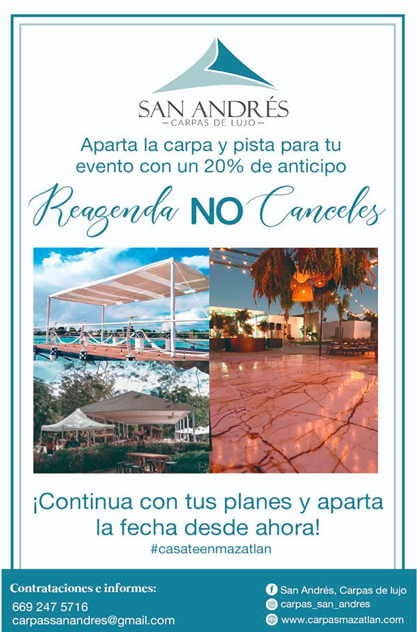 Carpas San Andrés - Reagenda, no canceles tu evento